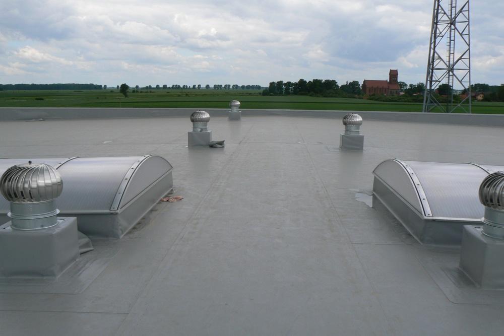 świetliki dachowe 3 - hala magazynowa z budynkiem biurowym, dla Agrarada, Domaniów, woj. dolnośląskie