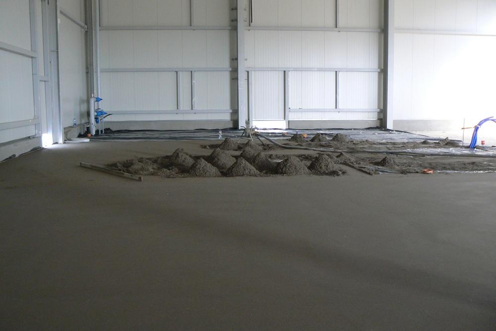 wylewka betonowa - hala magazynowa z budynkiem biurowym, dla Agrarada, Domaniów, woj. dolnośląskie