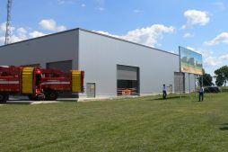 widok ogólny 4 - hala magazynowa z budynkiem biurowym, dla Agrarada, Domaniów, woj. dolnośląskie