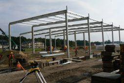 konstrukcja stalowa obiektu - hala produkcyjna z częścią biurową, dla Protech, woj. śląskie