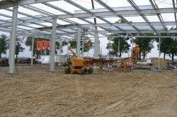 montaż konstrukcji stalowej - hala produkcyjna z częścią biurową, dla Protech, woj. śląskie