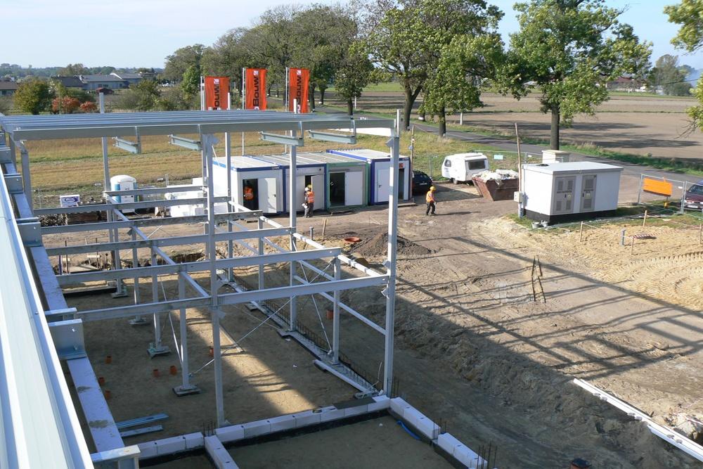 konstrukcja stalowa - hala produkcyjna z częścią biurową, dla Protech, woj. śląskie