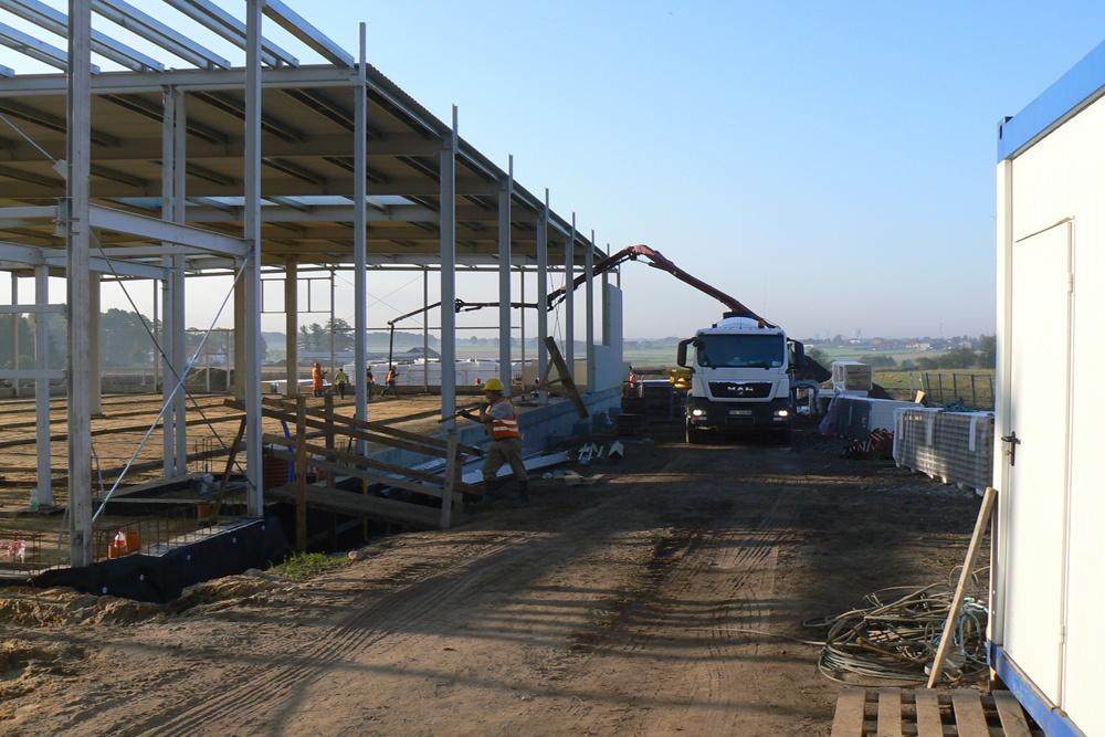 prace budowlane nad obiektem - hala produkcyjna z częścią biurową, dla Protech, woj. śląskie