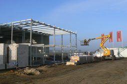 budowa obiektu - hala produkcyjna z częścią biurową, dla Protech, woj. śląskie