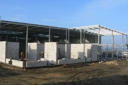 budowa części biurowej - hala produkcyjna z częścią biurową, dla Protech, woj. śląskie