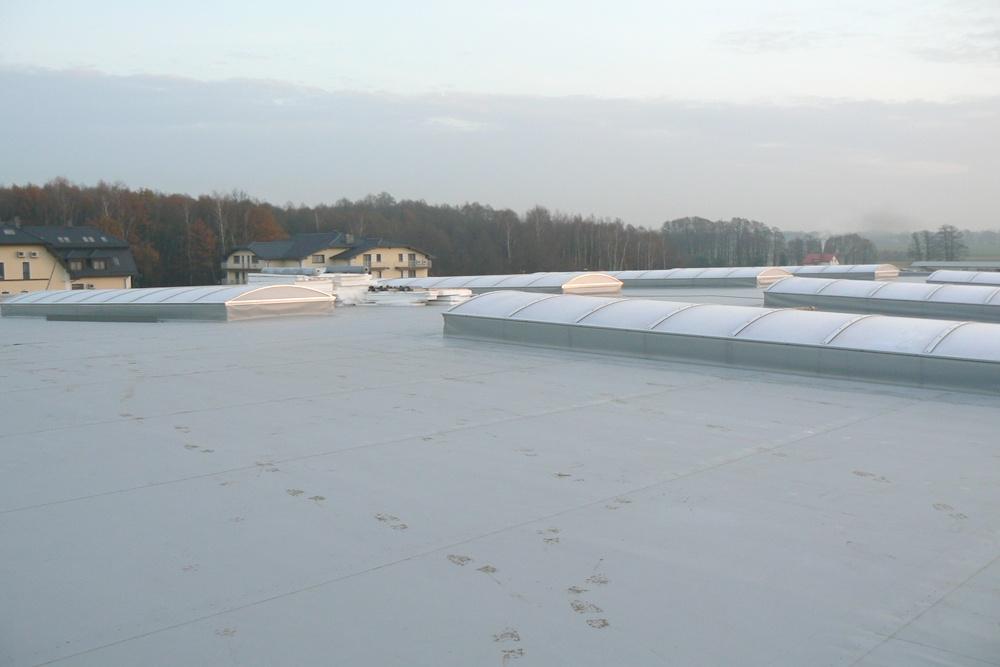 świetliki dachowe 1 - hala produkcyjna z częścią biurową, dla Protech, woj. śląskie