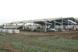konstrukcja stalowa obiektu - hala produkcyjna z częścią socjalno-biurową, dla Medos, Chełmno, woj. kujawsko-pomorskie