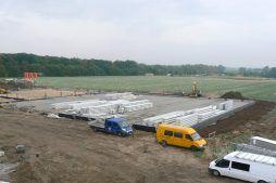 gotowe do montażu elementy konstrukcyjne - hala produkcyjna, dla Medos, Chełmno, woj. kujawsko-pomorskie