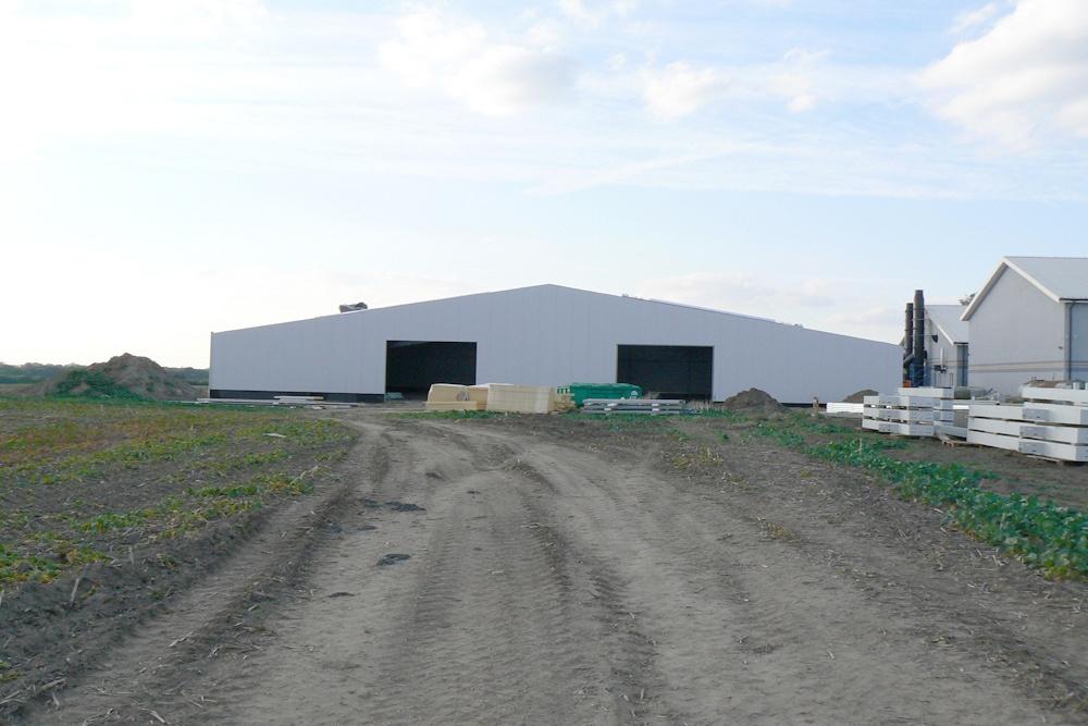 elewacja obiektu - hala produkcyjna z częścią socjalno-biurową, dla Medos, Chełmno, woj. kujawsko-pomorskie