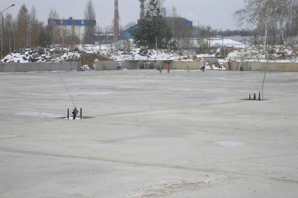 podkład betonowy pod posadzkę - hala produkcyjno-magazynowa, dla Deltim, Częstochowa, woj. śląskie
