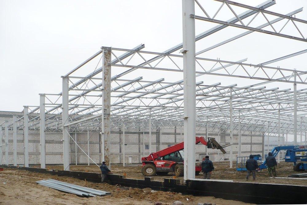 konstrukcja stalowa - hala magazynowa, dla PBM Południe, Macierzysz, woj. mazowieckie