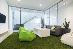 strefa relaksu 2 - hala magazynowa z budynkiem biurowym, dla Sun Garden Poland, Malanów