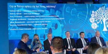 Dyskusja o kondycji i perspektyw dla firm rodzinnych - gala Forum Firm Rodzinnych Forbes, 2019, Fabryka Wełny, Pabianice
