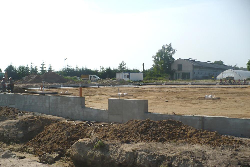 prace ziemne - hala produkcyjna z częścią biurową, dla Pritip, Puławy, woj. lubelskie