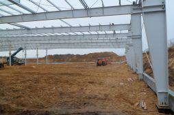 montaż konstrukcji stalowej hali - hala produkcyjna, dla Wiefferink, Wykroty
