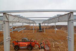 montaż konstrukcji stalowej hali 1 - hala produkcyjna, dla Wiefferink, Wykroty