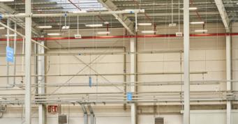 instalacja ppoż w hali - szósta hala stalowa, dla firmy Sun Gardemn, z Malnaowa, w woj. wielkopolskim