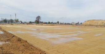 przygotowanie placu budowy - hala dla firmy Turenwerke, 2 etap budowy, Stanowice, woj. śląskie