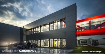 Turenwerke podświetlany łącznik - drugi etap inwestycji, dla producenta dzrwi, Stanowice, woj. śląskie
