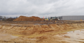 przygotowanie terenu pod budowę - inwestycja dla Turenwerke, 2 etap, Stanowice, woj. śląskie