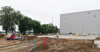 budowa wewnętrznej drogi dojazdowej do obiektu - hala o powierzchni 6.000 m2, dla Turenwerke, Stanowice, woj. śląskie
