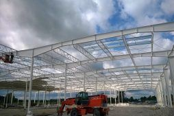 konstrukcja stalowa budynku - hala produkcyjna z budynkiem biurowym, dla Adams, Mrągowo, woj. warmińsko-mazurskie