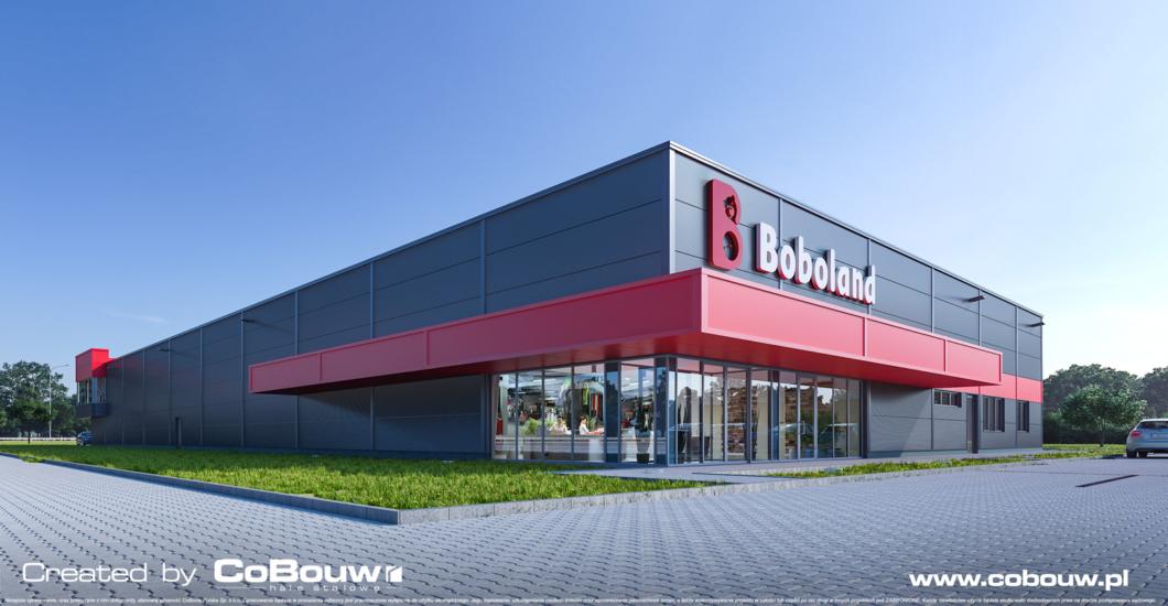 Budowa hali handlowej dla firmy Boboland