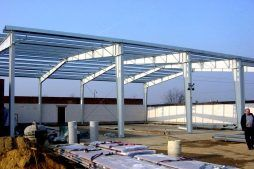 konstrukcja stalowa - hala warsztatowa, dla Pomoc Drogowa i Parking, Ksaweró, woj. łódzkie