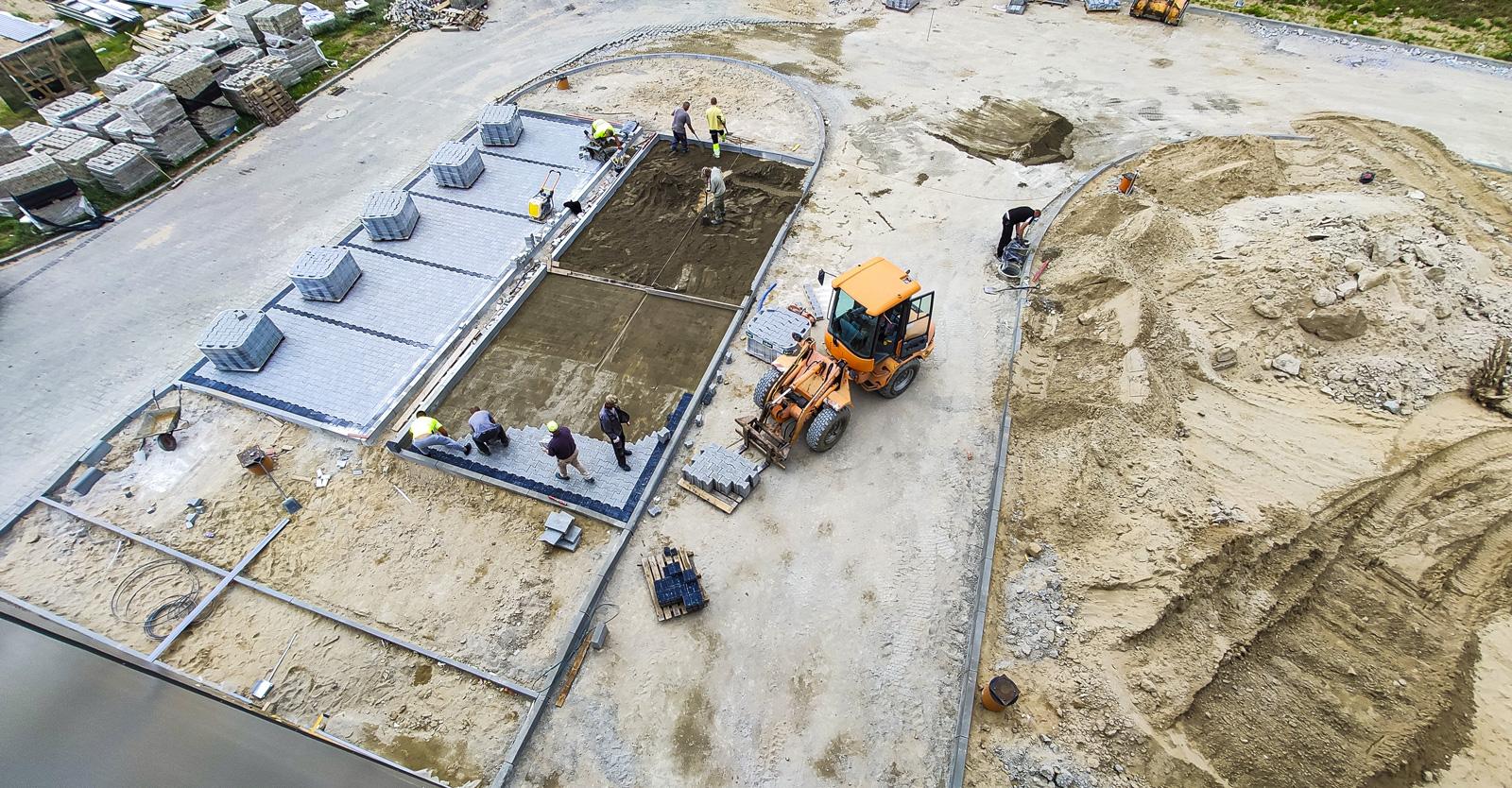 budowa parkingów Viscon II - druga inwestycja, dla firmy Viscon, w Płaszewku, w woj. pomorskim, w Słupskiej Specjalnej Strefie Ekonomicznej