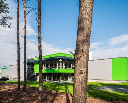 budynek Lidemann-w zalesionej okolicy -inwestycja dla Liedmann, Krzeczów, woj. łódzkie