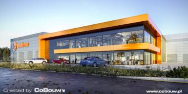 budynek-biurowy-MulitiMax,-wizualizacja - generalne wykonawstwo inwestycji, przez CoBouw Polska, w Zamościu, woj. lubelskie