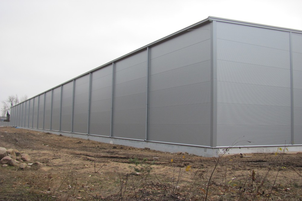 ściana boczna 5 - hala produkcyjna z budynkiem biurowym, dla Meblomaster, Węgrów, woj. mazowieckie