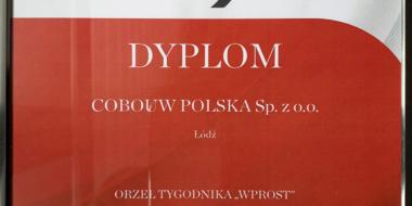 dyplom Orłów Wprost 2019 dla CoBouw Polska