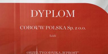 wyróżnienie przyznane CoBouw Polska przez tygodnik Wprost