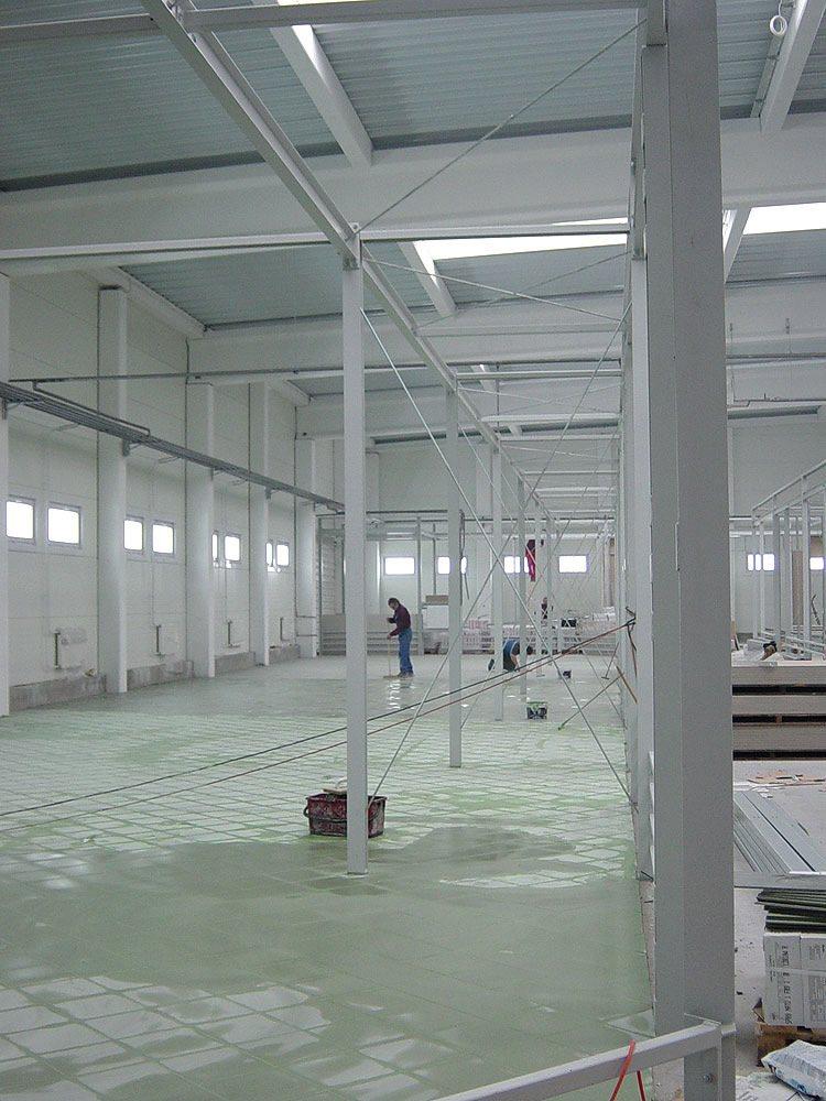 konstrukcja stalowa hali 1 - boksy handlowe, dla Centrum Handlowe EACC, Wólka Kosowska, woj. mazowieckie
