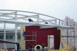 ocieplenie obiektu oraz montaż pokrycia z blachy trapezowej - hala produkcyjno-magazynowa, dla Eurostep, Ksawerów