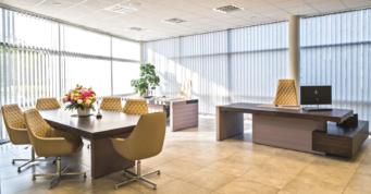 gabinet zarządu - hala produkcyjno-magazynowa z częścią socjalno-biurową i budynkiem biurowym, dla firmy DreamPen, Zielona Góra