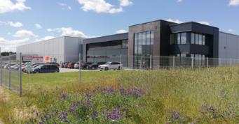 gotowa inwestycja Kentaur Production - projekt i budowa hali z biurowcem, przez CoBouw Polska, na terenie Kostrzyńsko-Słubickiej Specjalnej Strefy Ekonomicznej, w woj. zachodniopomorskim