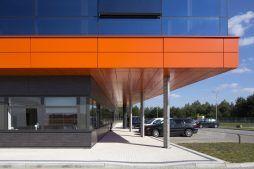 część wejściowa - hala produkcyjno-magazynowa z budynkiem biurowym, dla Lidermax, Łukowo, woj. mazowieckie
