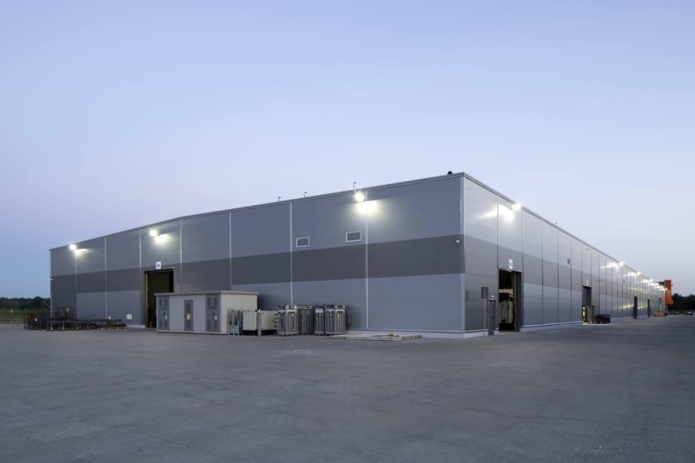 widok ogólny 3 - hala produkcyjno-magazynowa z budynkiem biurowym, dla Lidermax, Łukowo, woj. mazowieckie