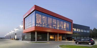 widok ogólny 4 - hala produkcyjno-magazynowa z budynkiem biurowym, dla Lidermax, Łukowo, woj. mazowieckie