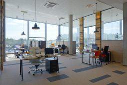 pomieszczenie biurowe - hala produkcyjno-magazynowa z budynkiem biurowym, dla Lidermax, Łukowo, woj. mazowieckie