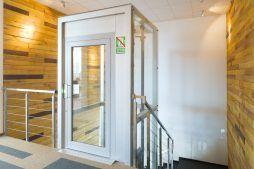 klatka schodowa - hala produkcyjno-magazynowa z budynkiem biurowym, dla Lidermax, Łukowo, woj. mazowieckie