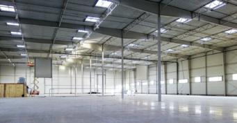 hala po wylaniu posadzki - inwestycja zrealizowana przez CoBouw Polska, w woj. lubelskim, o powierzchni 12.000 m2