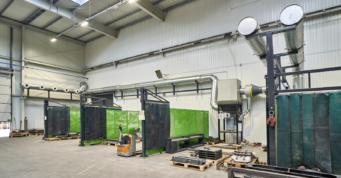 instalacja technologiczna wewnątrz hali - hala stalowa, dla CSA, z branży metalowej, Stęzyca, woj. pomorskie
