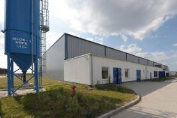 zdjęcie obiektu - hala produkcyjna z budynkiem biurowym, dla Algontec, Kostrzyn nad Odrą, woj. lubuskie