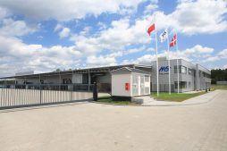 widok ogólny 1 - hala produkcyjno-magazynowa z budynkiem biurowym, dla HG Poland, Łozienica, woj. zachodniopomorskie