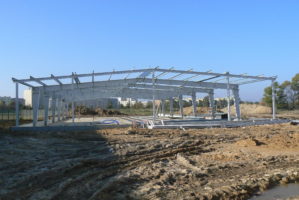 konstrukcja stalowa - hala produkcyjna z częścią biurową, dla BioMaxima, Lublin, woj. lubelskie