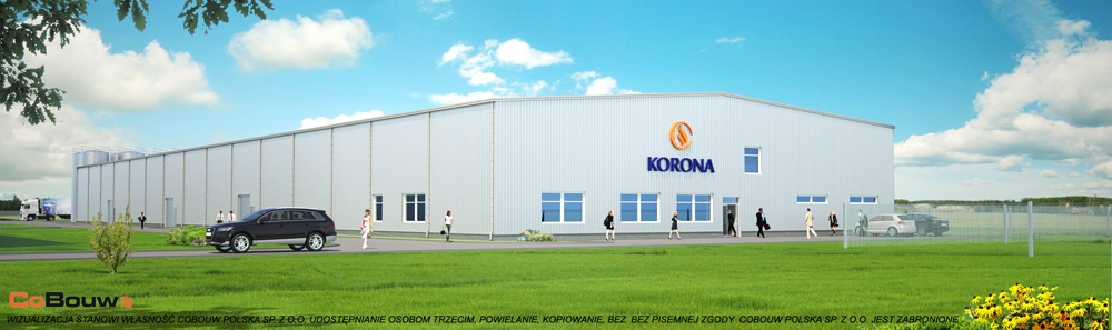 Hala produkcyjna w generalnym wykonawstwie dla Korona SA