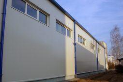 ściana boczna - hala produkcyjna, dla Lubiana Zakłady porcelany Stołowej, Lubiana, woj. pomorskie